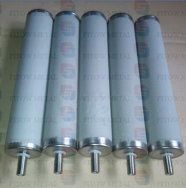 Titanium microporous sintered filter cartridge