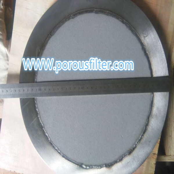 powder sintered filter round plate with seal ring