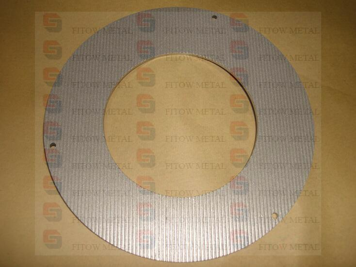 Titanium powder sintering filter ring